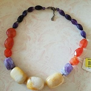 BARSE Semi Precious Gem Stone Necklace